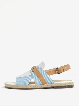 0480e3122966 Hnědo-modré dámské sandály Geox Mary Kolleen