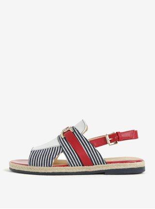 e7504082ea9c Čierne kožené vzorované sandále na platforme OJJU