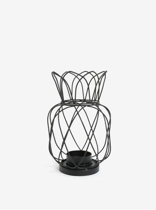 Černý kovový svícen ve tvaru ananasu SIFCON
