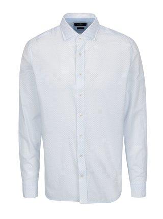 Camasa alba slim fit cu print discret - Hackett London Diddy