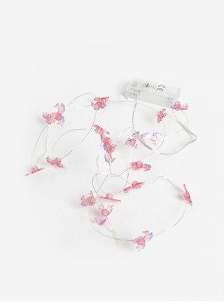Růžový holčičí světelný řetěz SIFCON