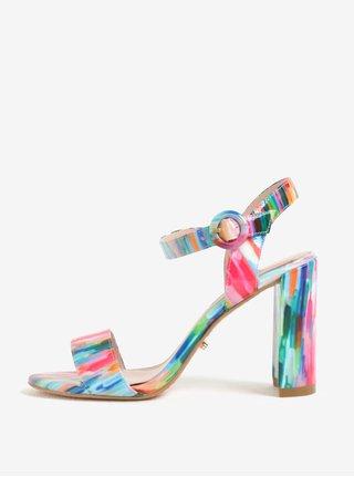 Farebné sandálky na širokom podpätku Dune London Mixed