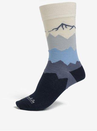 Tmavě modré unisex ponožky s motivem hor Fusakle Kriváň