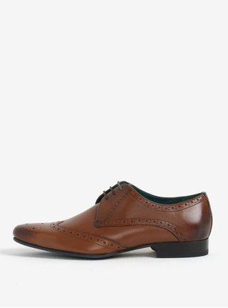 Pantofi brogue maro din piele naturala pentru barbati - Ted Baker Hosei
