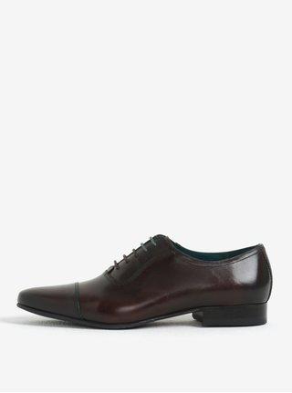 Pantofi maro inchis din piele naturala pentru barbati - Ted Baker Karney