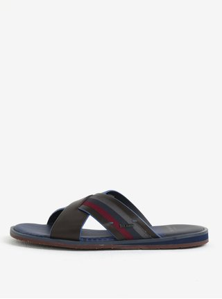 Papuci maro inchis din piele pentru barbati - Ted Baker Farrull