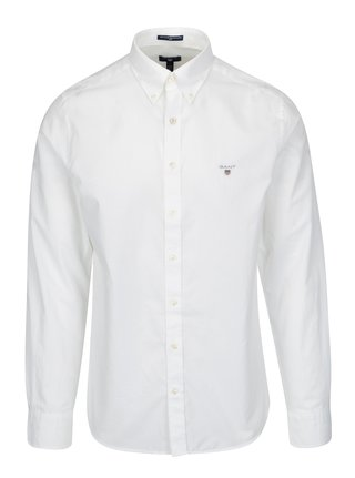 Bílá pánská slim košile GANT