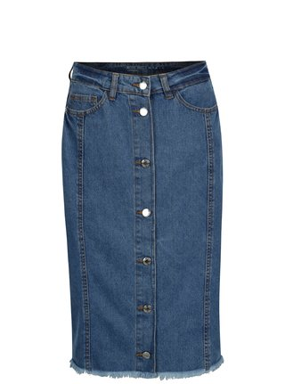 Modrá džínová sukně s knoflíky Noisy May Be blair