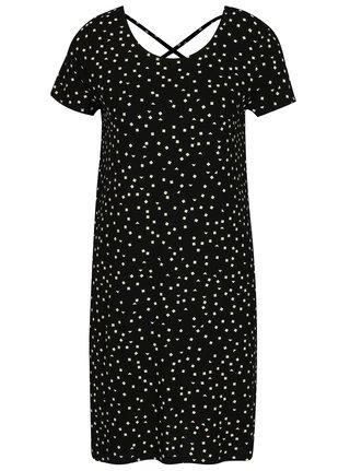 Čierne šaty s potlačou ONLY Bera