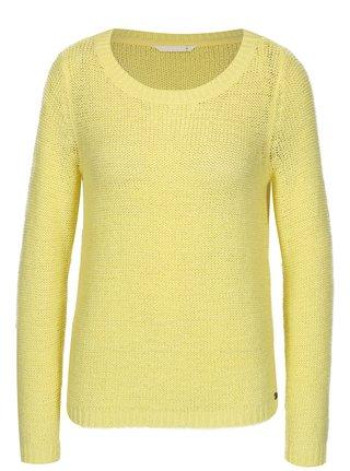 1a30c165728e Žltý priesvitný pletený sveter ONLY Geena