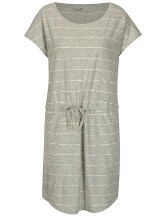 Sivé pruhované melírované šaty s krátkym rukávom ONLY May