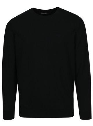 Tmavomodrý sveter s výšivkou Barbour Pima