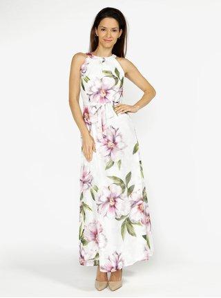 Rochie maxi crem cu print floral M&Co