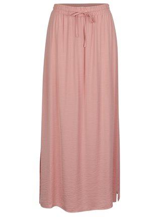 Růžová maxi sukně VILA Cava