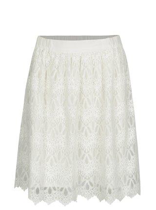 Krémová krajková sukně VILA Winstock