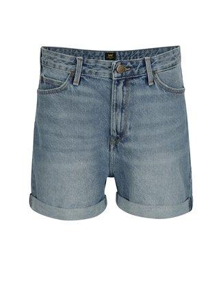 Pantaloni scurti albastri din denim cu talie inalta pentru femei - Lee Salina