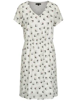 Krémové šaty s motivem buldoků Smashed Lemon