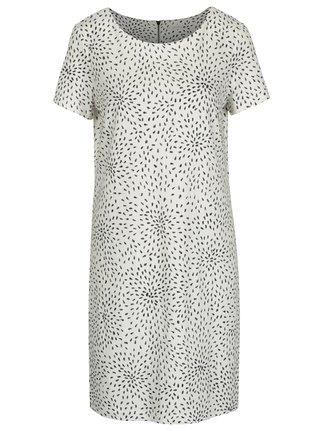 Krémové vzorované šaty s krátkym rukávom VILA Tinny