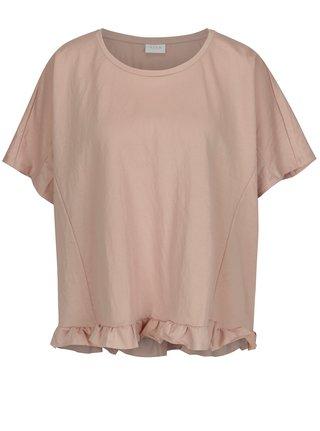 Staroružové oversize tričko VILA Rose