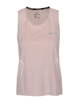 Ružové dámske funkčné tielko Nike Dry Miler Tank