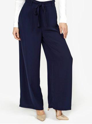 Tmavě modré volné kalhoty s vysokým pasem VERO MODA Mita fb09b52517