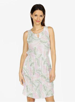 Svetlozelené vzorované šaty VERO MODA Simply f7a98dc3d90