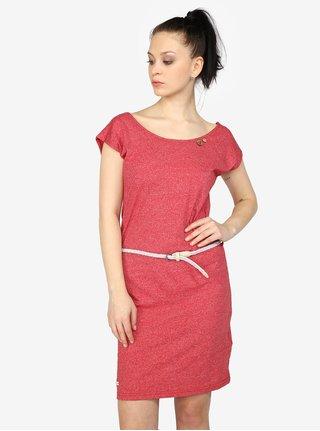 Červené žíhané šaty s pásky na zádech Ragwear Sofia b6f4c69e5d