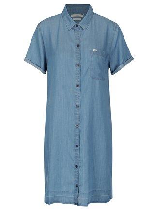 Svetlomodré košeľové šaty Lee Delft