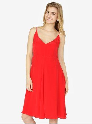Červené šaty na ramínka Calvin Klein Jeans Deanna