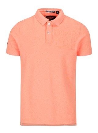 Neonově oranžové pánské polo tričko Superdry