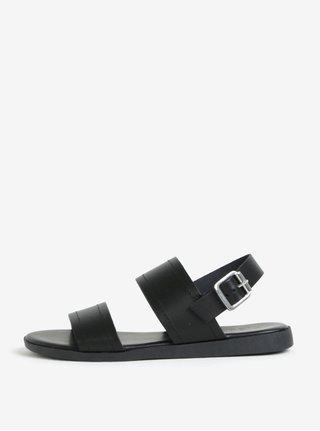Černé kožené sandály Pieces Penelope