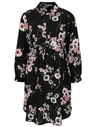Rochie camasa neagra cu print floral pentru femei insarcinate -  Dorothy Perkins Maternity