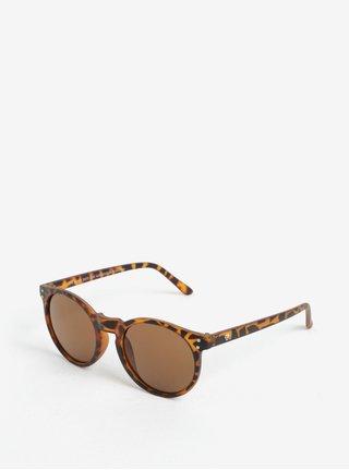 Hnědé dámské vzorované sluneční brýle CHPO Hoddevik