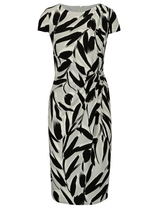 Rochie alba cu print abstract Dorothy Perkins
