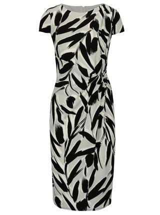 Čierno–biele vzorované šaty s riasením Dorothy Perkins