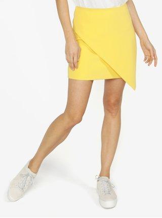 Žlutá asymetrická minisukně VERO MODA Anna