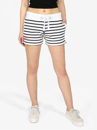 Pantaloni scurti cu dungi alb & negru - Superdry