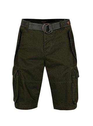 Pantaloni cargo scurti verde inchis pentru barbati - Superdry