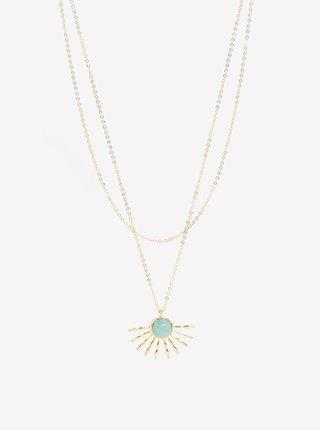 Colier auriu cu pandantiv floare -  Pieces Gaia