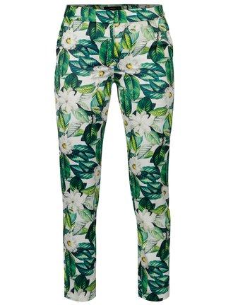 Zelené květované kalhoty NISSA
