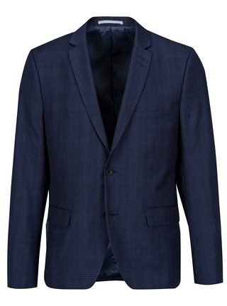 Sacou slim fit bleumarin cu carouri - Casual Friday by Blend