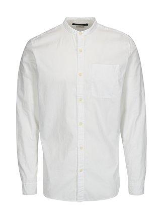 Bílá slim fit košile Jack & Jones Kevin
