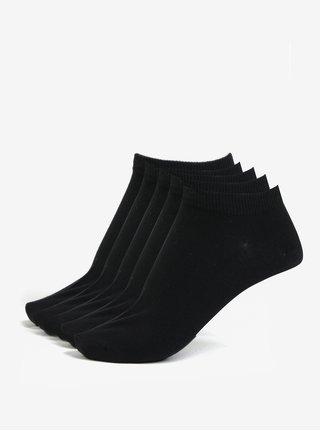 Súprava piatich párov nízkych ponožiek v čiernej farbe Jack & Jones Dongo