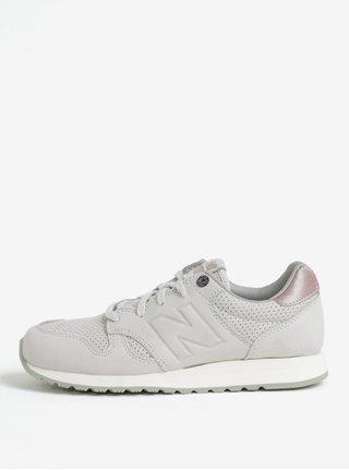 Pantofi sport gri deschis din piele intoarsa pentru femei New Balance WL520