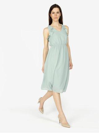 Mentolové šaty s volánmi VERO MODA Iris