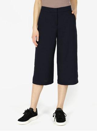 Tmavomodré culottes s vysokým pásom VERO MODA Isabel