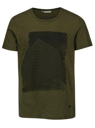 Tmavě zelené tričko s potiskem Casual Friday by Blend