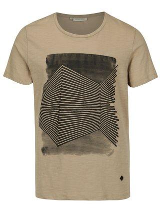 Béžové tričko s potlačou Casual Friday by Blend