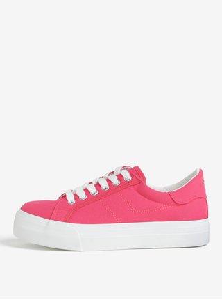 Ružové tenisky na platforme Tamaris