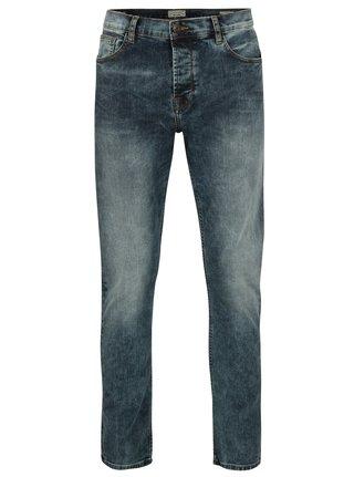 Modré slim džíny s vyšisovaným efektem ONLY & SONS Loom